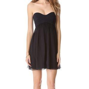 Diane Von Furstenberg Asti Strapless Dress - Black